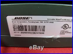 BEAUTIFUL BLACK BOSE WAVE RADIO ACOUSTIC CD-3000 WithREMOTE+5CD CHANGERXLNT. COND