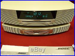 BEAUTIFUL WHITE BOSE WAVE RADIO/CD MUSIC SYSTEM 2 WithREMOTE+3-CD CHANGERAWESOME