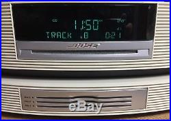 BOSE AWRCC2 Wave system multi-CD Player, AM/FM Radio, iPhone, 3 Remotes, Cables