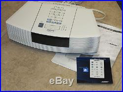 BOSE AWRC-1P Wave Radio CD Player White, Remote, CD, Owner's Guide, MINT