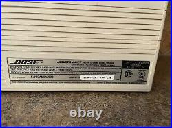 BOSE Acoustic Wave Music System Model CD-3000 Sound System CD/Radio White