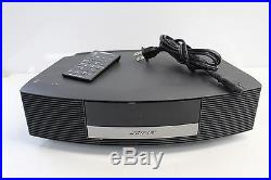 BOSE Wave III Music System CD Radio Alarm Aux Input withRemote Graphite Gray