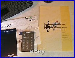 BOSE Wave Radio/CD/Alarm Clock AWRC-1G with Remote, Papers Very Nice Condition