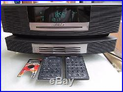 BOSE Wave Radio CD Player withMulti-CD Changer Accessory & 2 Remotes (Black)