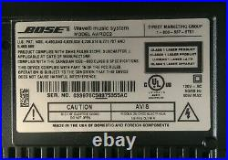 BOSE Wave System AM/FM Radio CD Player Clock AWRCC2 with Remote and User Guide/CD