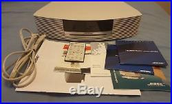 BOSE Wave music System III Radio CD player with remote and manuals tan beige