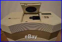 Bose Acoustic Wave CD-3000 Music System CD Player Radio Platinum White NO REMOTE