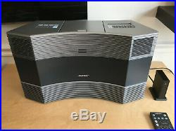 Bose Acoustic Wave II Music System Platinum Silver Radio CD AUX Bluetooth