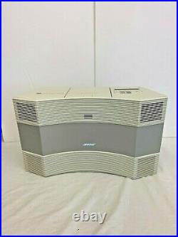 Bose Acoustic Wave Radio Music System Cd-3000 Radio & CD Player White & Remote