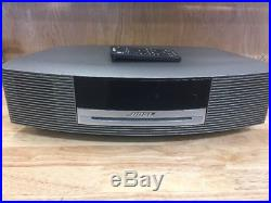 Bose Awrcc1 Wave Music System Radio & Cd Player With Remote Silver