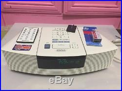Bose Wave AM/FM Radio CD Player AWRC1P with Orig Remote, New CD pick up-Immaculate