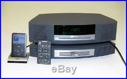 Bose Wave CD Radio Stereo Music System Alarm, Aux, with 3-Disc Changer + Bonus