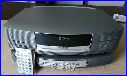 Bose Wave Music Radio Cd Player Alarm AWRCC1 withMulti CD Accessory & New Remote
