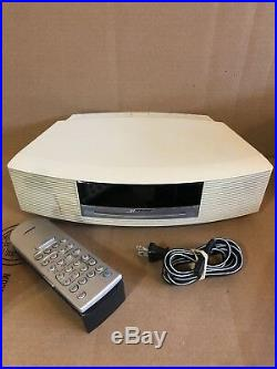 Bose Wave Music System AM/FM Radio CD Player Stereo White & Backlit Remote