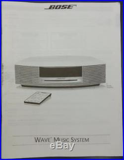 Bose Wave Music System AM FM Radio Stereo CD Player with Remote and Manual