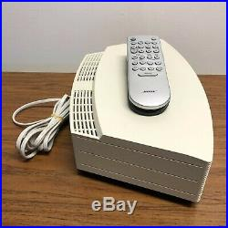 Bose Wave Music System AWRCC2 CD with Remote White, Tested and Great Condition