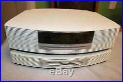 Bose Wave Music System AWRCC2 withMulti CD Changer AM/FM Radio AUX Remote WHITE