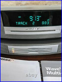 Bose Wave Music System CD AM/FM Radio With Multi-CD Changer Remote And Manuals