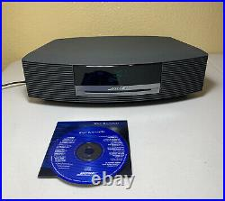 Bose Wave Music System CD Player AM/FM Radio Graphite Black/ Tested/ Free Ships