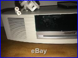 Bose Wave Music System III 3 Radio CD Player Dual Alarm Clock Touchtop White