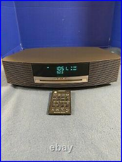 Bose Wave Music System III Radio AM/FM CD Player Alarm with Remote Black Tested