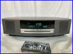 Bose Wave Music System III Radio AM/FM CD Player Alarm with Remote Silver