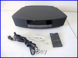 Bose Wave Music System III Radio CD Player Dual Alarm Clock Graphite Touch Top