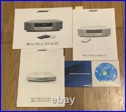 Bose Wave Music System III Radio/FM CD Player AUX Alarm Graphite withRemote & Box