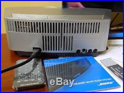 Bose Wave Music System IV RADIO AM FM CD Player SILVER & Remote touch top Mint