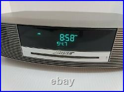 Bose Wave Music System with Remote CD Player/ AM/FM Radio/AUX Silver