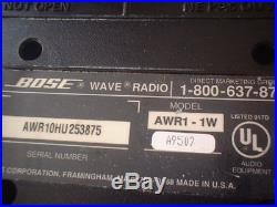 Bose Wave Radio, AM/FM Stereo Model No AWR1-1W, White WithREMOTE PARTS ONLY
