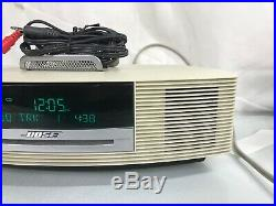 Bose Wave Radio CD Player Stereo AM FM Alarm Clock AWRCC2 With Aux Cable