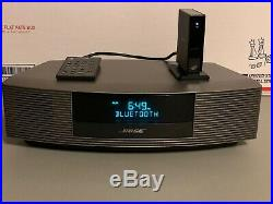 Bose Wave Radio III With Bluetooth Adapter & Remote AM FM AUX BLUETOOTH Silver