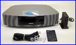 Bose Wave Radio III With Wave Bluetooth Music Adapter & Remote Titanium Silver