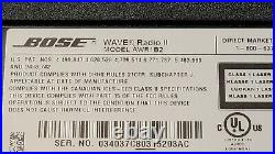 Bose Wave Radio II AWR1B2 AM/FM AUX Alarm Clock Stereo with Remote, Cable/ Cord
