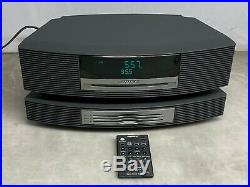 Bose Wave Radio Music System AWRCC1 + Multi Disk CD Player withPower Cable+Remote