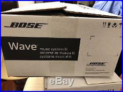 Bose Wave lll Music System 3 Radio CD Alarm with 2 Remotes/Bluetooth/Volume Con