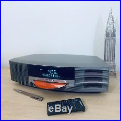 Boses Wave Music System Titanium Silver Wave Radio CD with Remote Control