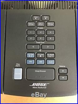 EXCLNT! Bose Wave Radio/CD AWRC-1G AM/FM Clock Dual Alarm RCA AUX Audio-In/Out