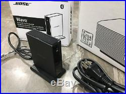 Mint Bose Wave Radio III, With Bluetooth Music Adapter Silver