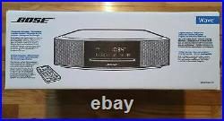 NEW Bose Wave Music System IV- Black/Silver With Remote AM/FM Radio&CD Player