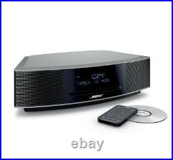 NEW! Bose Wave Music System IV Platinum Silver CD, Radio AM/FM, with Remote