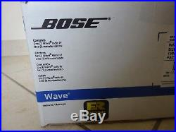 NEW SEALED BOSE WAVE RADIO IV AM/FM AUX WITH REMOTE PLATINUM SILVER NEW warranty