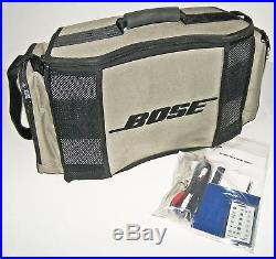 SWEETBose CD-3000 Wave Music System RadioRemote, Battery Case! WhiteiPod Cord