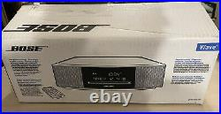 Silver Bose Wave Music System IV with Remote, Bluetooth, CD Player, AM/FM Radio